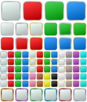 Free Stock Photo of Vector Metallic Button Set