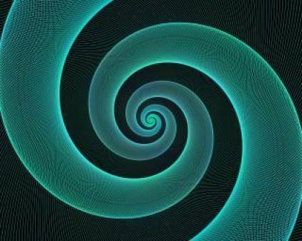 Free Stock Photo of Cyan Spiral Design Background