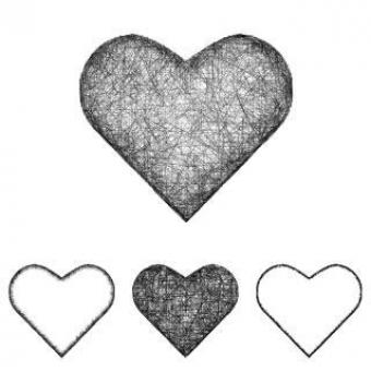 Free Stock Photo of Vector Heart Icon Set