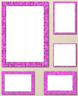 Free Stock Photo of Vector Magenta Mosaic Frame Set