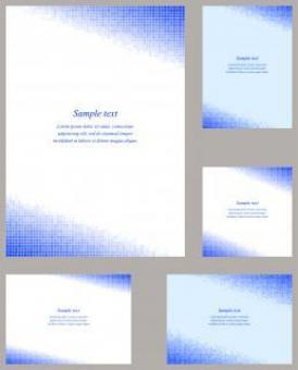 Free Stock Photo of Blue Vector Mosaic Template Set