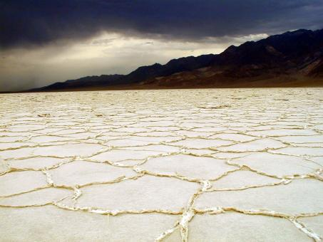 Free Stock Photo of Salt on the Flat Land