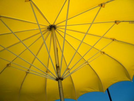 Free Stock Photo of Yellow Umbrella