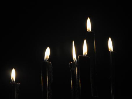 Free Stock Photo of Black Candles