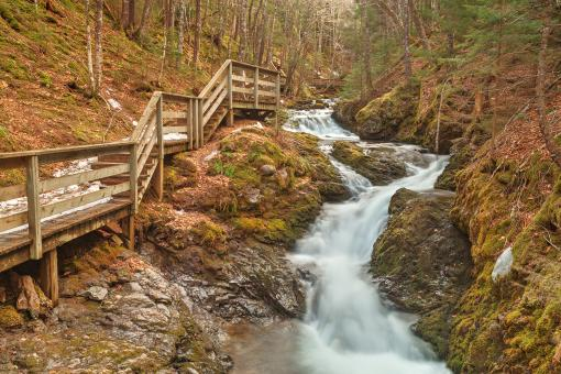 Free Stock Photo of Centipede Step Falls - HDR
