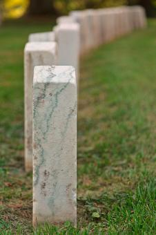 Free Stock Photo of Antietam Tombstones - HDR