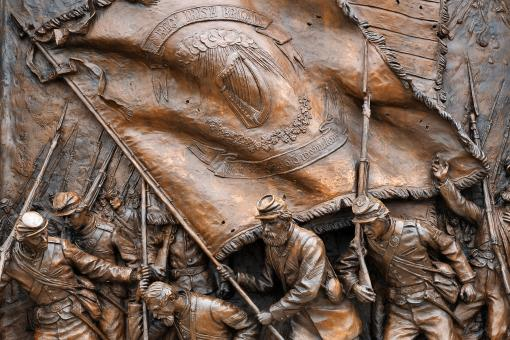 Free Stock Photo of Irish Brigade Monument Close-up