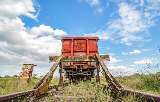 Free Stock Photo of Old Standing Train