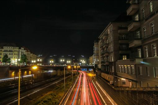 Free Stock Photo of Autobahn Berlin at Night