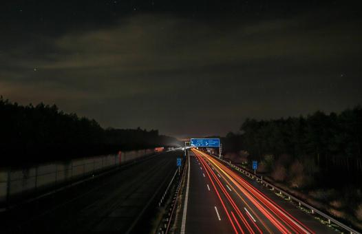 Free Stock Photo of Autobahn at Night