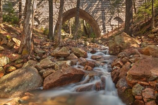 Free Stock Photo of Hadlock Bridge Brook - HDR