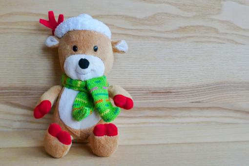 Free Stock Photo of Cute Stuffed Reindeer