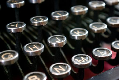 Free Stock Photo of Typewriter Keys