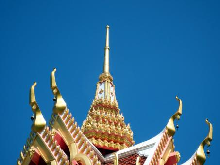 Free Stock Photo of Temple Roof Detail