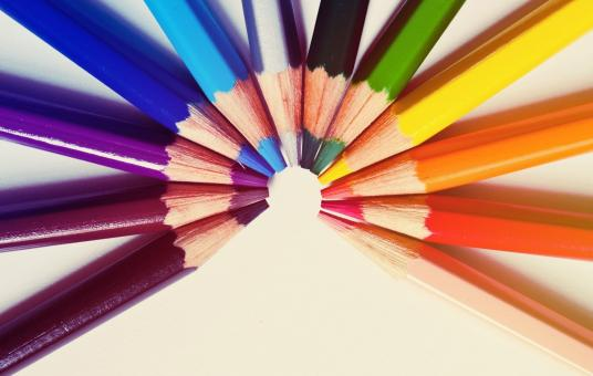 Free Stock Photo of Colored Pencils