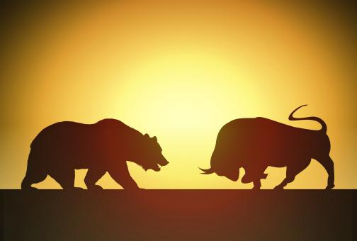 Free Stock Photo of Bull versus Bear