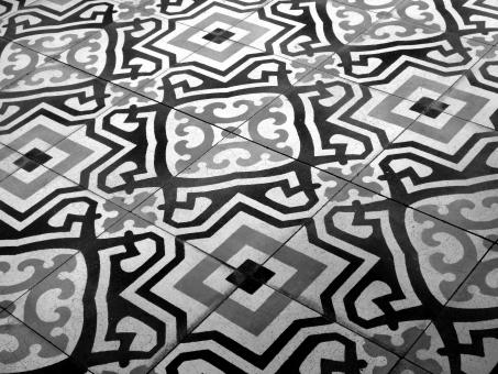 Free Stock Photo of Vintage Patterned Floor Tiles