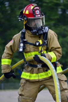 Free Stock Photo of Firemen Training