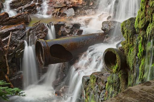 Free Stock Photo of Dam Cannon Falls - HDR