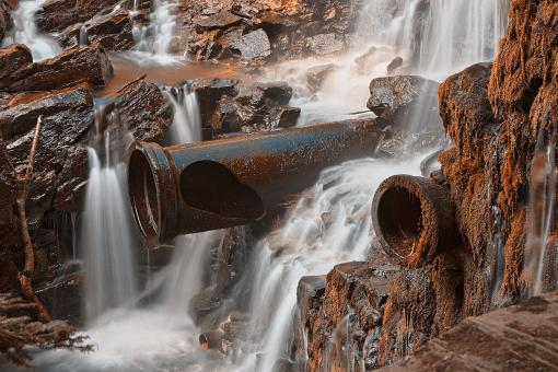 Free Stock Photo of Rustic Dam Falls - HDR