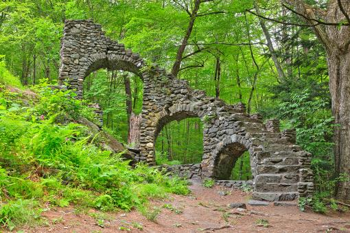 Free Stock Photo of Castle Staircase Ruins - HDR
