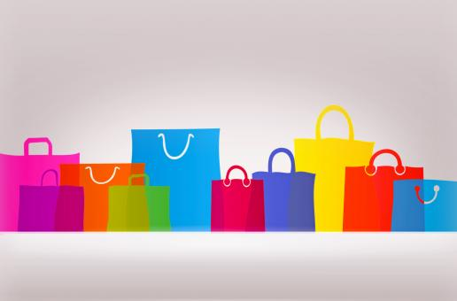 Free Stock Photo of Assorted Gift Bags and Shopping Bags