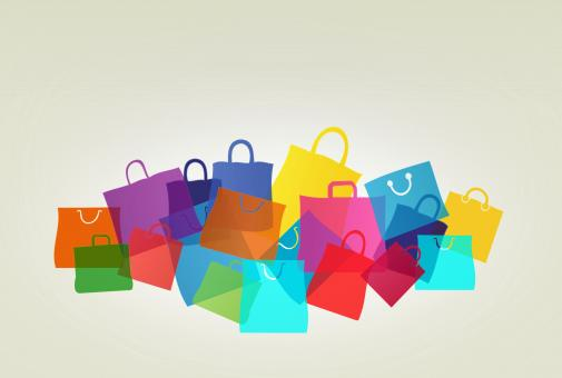 Free Stock Photo of Colorful Shopping and Gift Bags