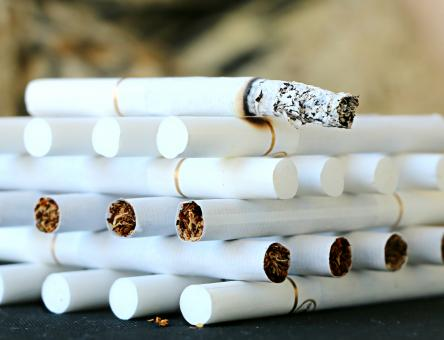 Free Stock Photo of A bonfire of cigarettes