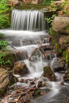 Free Stock Photo of Jean-Drapeau Waterfall - HDR