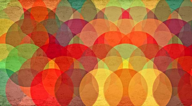 Free Stock Photo of Colorful Circles on Grunge Background - Abstract Pattern