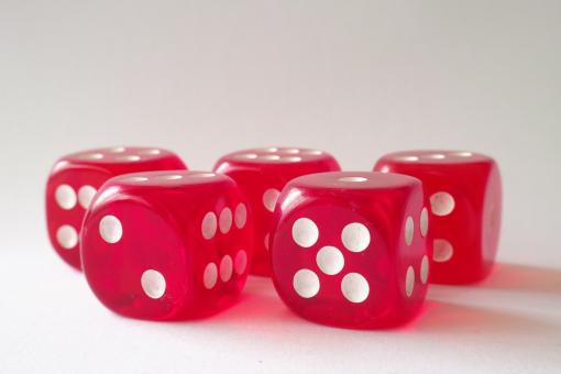 Free Stock Photo of Red Dice
