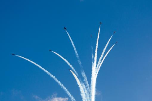 Free Stock Photo of Aerobatics show