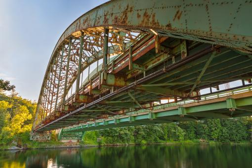 Free Stock Photo of Rusted Sunset Bridge - HDR