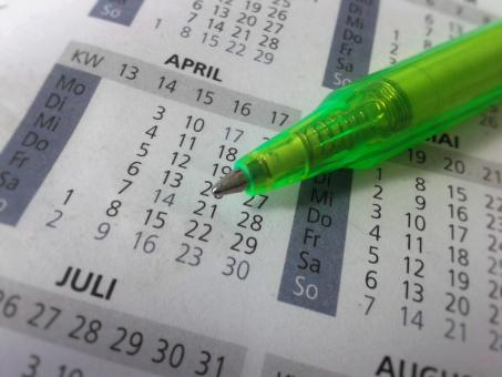 Free Stock Photo of Pen and Calender