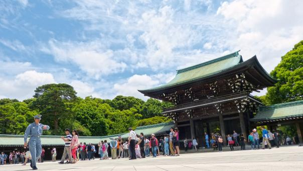Free Stock Photo of People Visiting the Shrine
