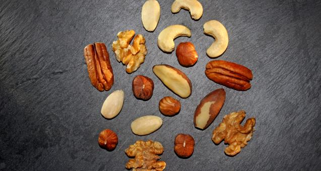 Free Stock Photo of Assorted Mixed Nuts for Your Health