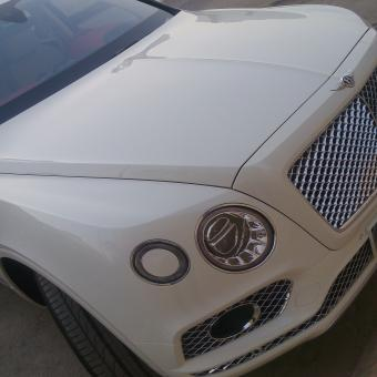 Free Stock Photo of White Bentley