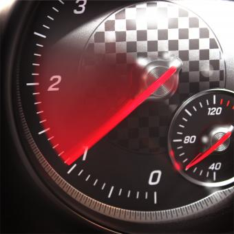 Free Stock Photo of Sports Car RPM Gauge - Tachometer Speeding Up
