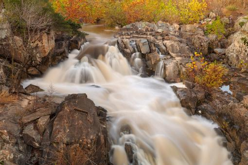 Free Stock Photo of Great Falls Autumn Cascades - HDR