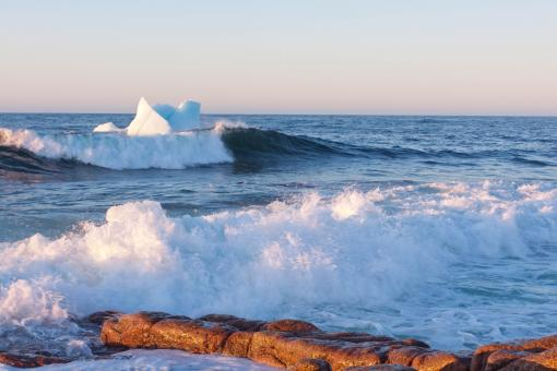 Free Stock Photo of Icebergs melting along the coast