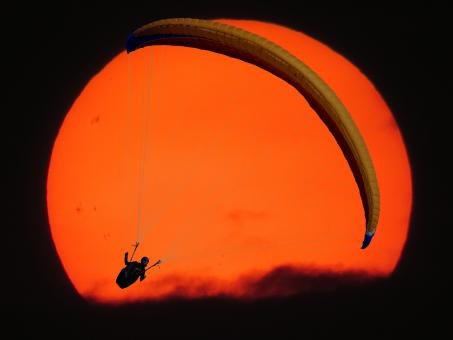 Free Stock Photo of Lonely Paraglider