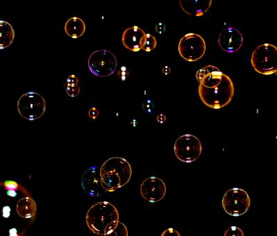 Free Stock Photo of colorful soap bubbles