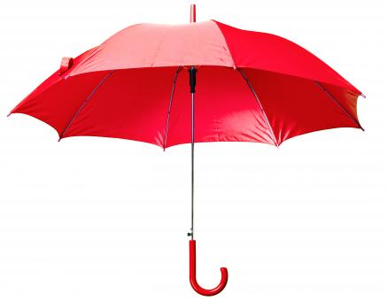 Free Stock Photo of Red Open Umbrella