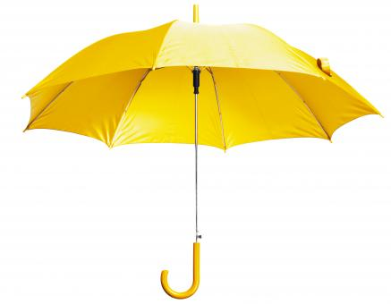 Free Stock Photo of Yellow Open Umbrella
