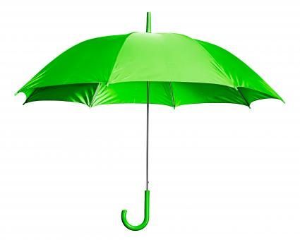 Free Stock Photo of Green Open Umbrella