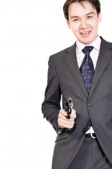 Free Stock Photo of man with gun