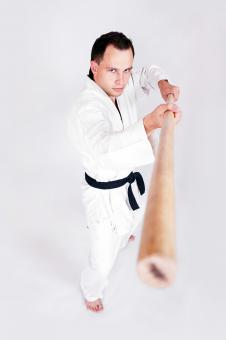 Free Stock Photo of Karate Fighter