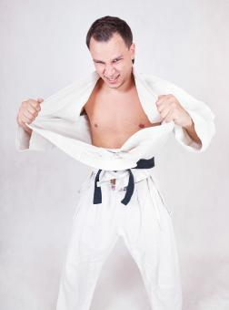 Free Stock Photo of Karate Fighter Posing