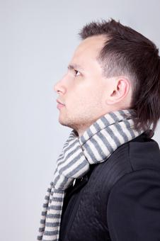 Free Stock Photo of man with scarf