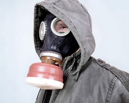 Free Stock Photo of Man in gas mask